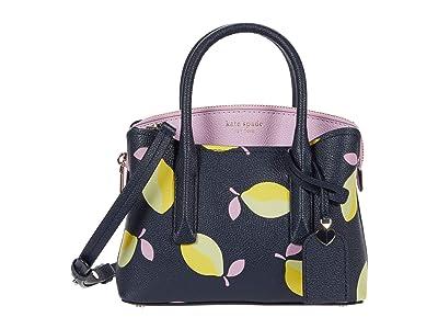 Kate Spade New York Margaux Lemons Mini Satchel (Blue Multi) Handbags
