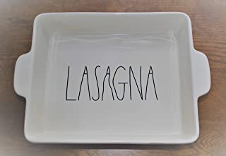 rae dunn lasagna