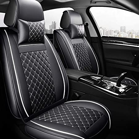 1Pcs Black /& Red Car Seat Cover Cushions PU Leather For Interior Accessories