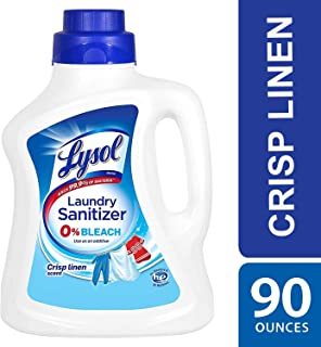 Lysol Laundry Sanitizer Additive, Crisp Linen, 90oz, bacteria-causing laundry odor..