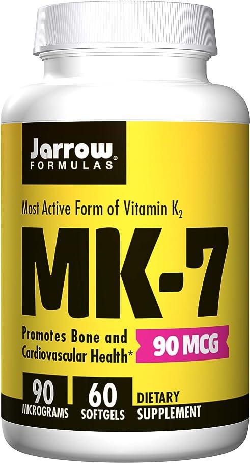 花火システム貪欲Jarrow Formulas, MK-7, Vitamin K2 as MK-7, 90 mcg, 60 Softgels 海外直送品