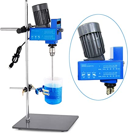 YJINGRUI Lab Stirrer Mixer Lab Digital Electric Mixer Overhead Stirrer Laboratory Mixer Powerful 20L 10000 mPas 2000RPM for Liquid Stirring (110V)