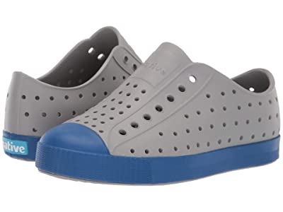 Native Kids Shoes Jefferson (Little Kid) (Pigeon Grey/Victoria Blue) Kid