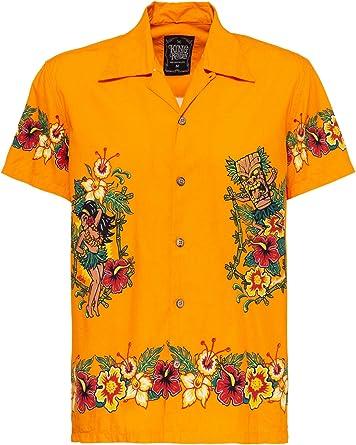 King Kerosin Camisa de manga corta para hombre   Camisa ...