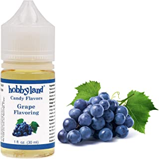 Hobbyland Candy Flavors (Grape Flavoring, 1 Fl Oz), Grape Concentrated Flavor Drops