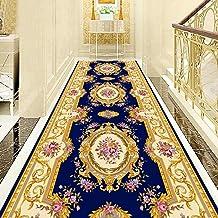 WX&QIANG Red Tappeto Corridoio Runner Rug, Neutral Modern, Shabby Chic, Trendy Design Home Carpet Runner, Anti Slip Soft T...