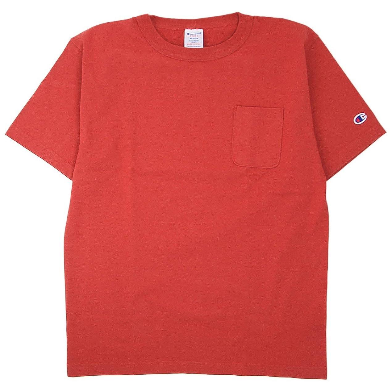 例外スチュアート島ペデスタル(チャンピオン) Champion Made in USA T1011 US ポケット Tシャツ 米国製 国内正規品 マルーン C5-B303-970