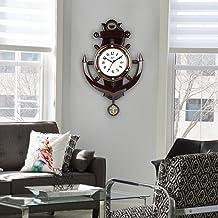 EFINITO Plastic Pendulum Wall Clock (Brown_20 Inch X 16 Inch X 1 Inch)