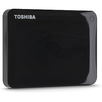 Toshiba Canvio Connect II 1TB Portable Hard Drive, Black (HDTC810XK3A1)