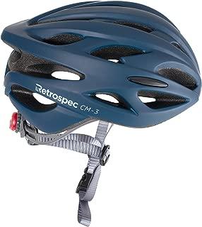 Retrospec by Westridge 3077 CM-3 Road Bike Helmet with LED Light Adjustable Dial, 24 vents