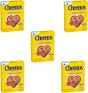Cheerios Cereal, 18 oz (Pack of 5)