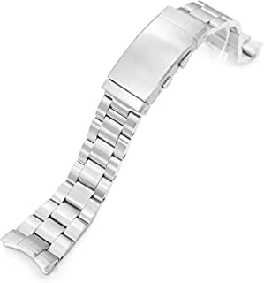 Strapcode Watch Bracelet 22mm Super 3D Oyster 316L Stainless Steel Watch Bracelet for Orient Triton, Brushed Wetsuit Ratch...