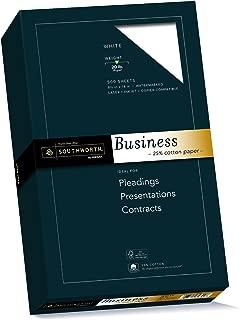 Southworth 25% Cotton Business Paper, 8.5 x 14 inches, 20 lb, White, 500 Sheets per Box (403E)
