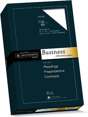 entrega de rayos 25% Cotton Business Paper, blanco, 20 20 20 lbs., Wove ,8-1 2 x 14, Legal, 500 Bx, FSC, Sold as 1 Box  conveniente