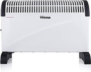 Tristar KA-5911 - Calefactor Convector con 2 Ajustes de Calor, Termostato Regulable, Asas Integradas, 1500 W, Blanco
