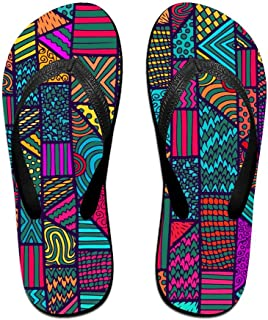 Native American Inspired Retro Aztec Pattern Men's Flip Flops Fashion EVA Non-Slip Pool Sandal Holiday Travel Beach Sandals