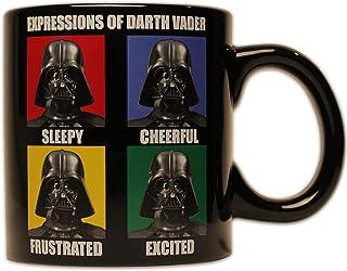 Silver Buffalo SW7732 Star Wars Darth Vader Ceramic Mug, 14-Ounces, 14 oz, Black
