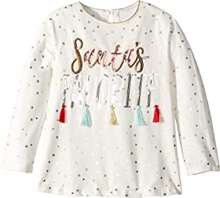Mud Pie Womens Santa's Favorite Tassel Long Sleeve Christmas Tunic (Infant/Toddler)