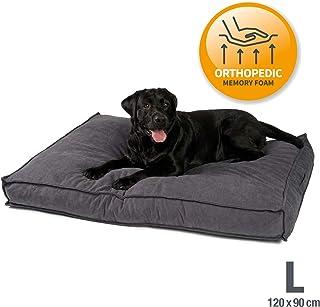 JAMAXX Premium Hundekissen Orthopädisch Memory Visco Schaum Waschbar Abnehmbarer Bezug Wasserabweisend - Weicher Samtiger Sofa Stoff - Hundebett PDB1001