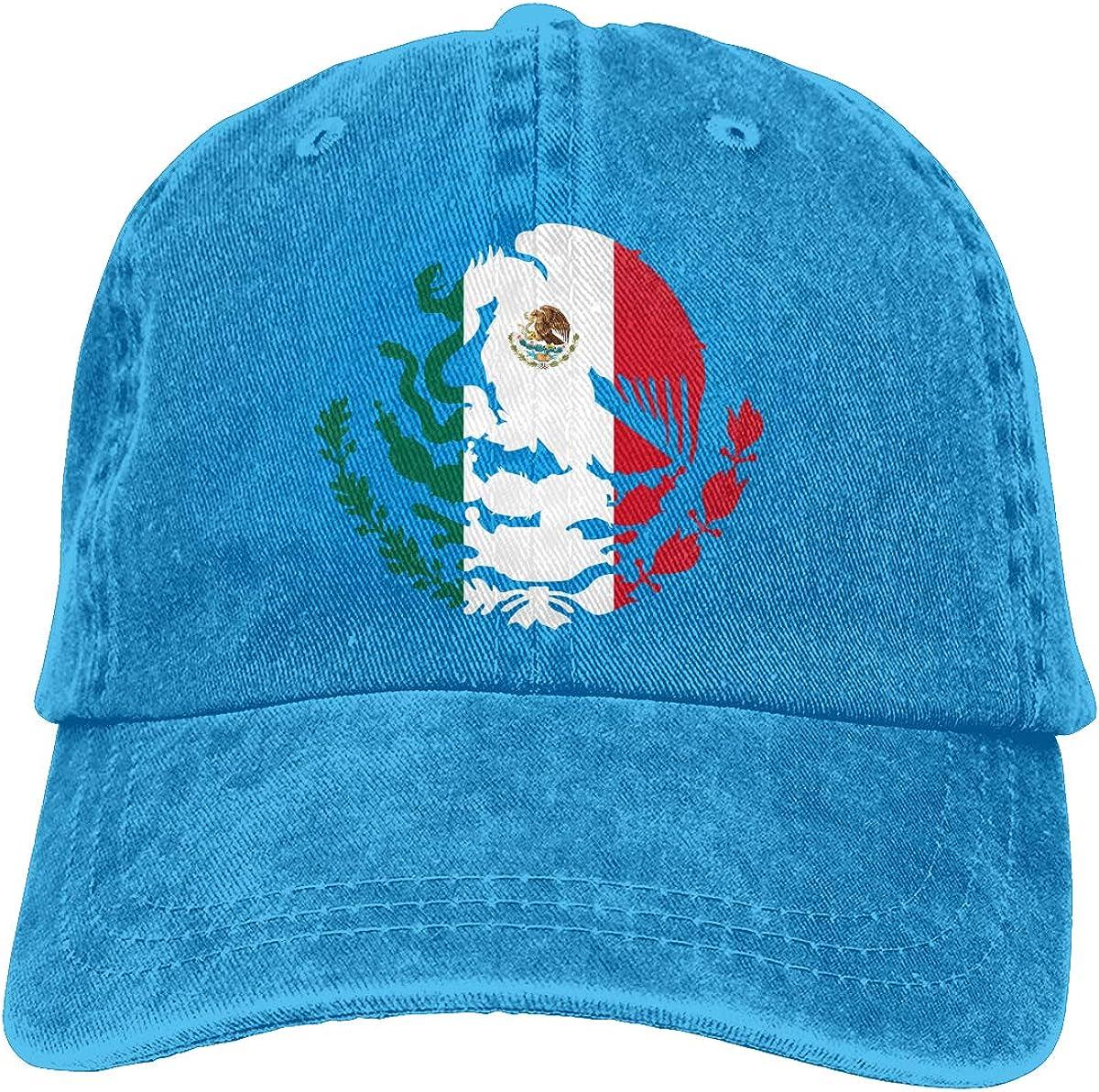 YLW49Y Baseball Cap for Men /& Women Mexico Flag Womens Cotton Adjustable Jeans Cap Hat