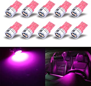 iBrightstar Extremely Bright 3030 Chipsets 168 175 194 2825 W5W T10 Wedge LED Bulbs For License Plate Interior Map Dome Trunk Lights, Purple