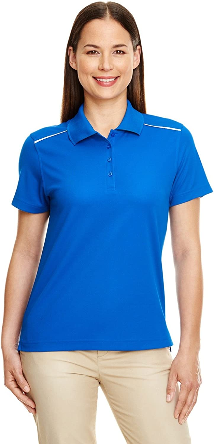 Core 365 Radiant Performance Piqué Polo with Reflective Piping 3XL True Royal