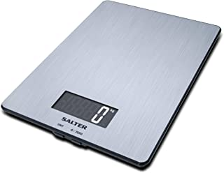 Salter 1103 SSDR Bßscula de Cocina Digital, lÝnea Steel, Aquatronic, 5 Kg, Acero, Inoxidable, Grey