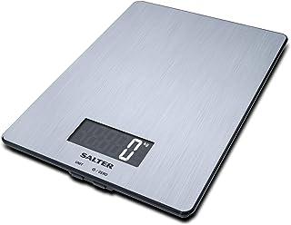Salter 1103 SSDR Bßscula de Cocina Digital, lÝnea Steel, Aquatronic, 5 Kg, Acero, Inoxidable, Grey