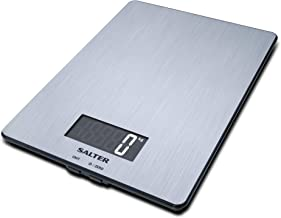 Salter 1103 SSDR Digital Electronic Food Weighing, Grey, W 26.0 x H 21.4 x D 4.0 cm, Stainless Steel