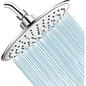 Baban Rainfall Shower Head,High Pressure 8 inch Large Rain Shower Head ABS Polish Chrome Finish with Filter to Anti-clog Anti-leak, Awesome Shower Experience for Bathroom Home Hotel