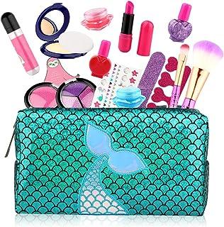 Baztoy Trucchi Bambina Set, Giochi Bambina 17 Pezzi Lavabile Makeup Kit con Trousse Trucchi Trucco Giocattoli Bambini 3 4 ...