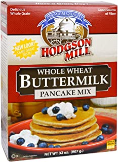 Hodgson Mill Whole Wheat Buttermilk Pancake Mix, 32-Ounce (Pack of 6)