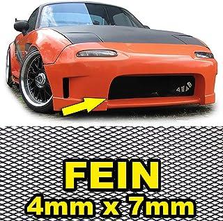 Tenzo R 38284 Aluminium Gitter Renngitter Wabengitter Racegitter 150X30cm 4x7mm Schwarz