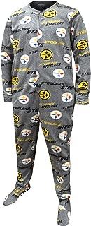 Concepts Sport Men's Pittsburgh Steelers Logo One Piece Footie Pajama