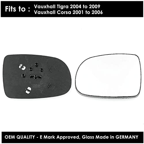 Passenger Side Corsa Wing Mirror s With base-heated ,2006 onward Silver,LH