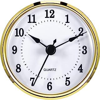 Hicarer 3-1/8 Inch (80 mm) Clock Insert Fit Diameter 3.0 inch (76 mm) Hole, Gold Trim