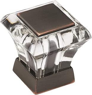 Amerock BP29460CORB Abernathy ORB Cabinet Knob, 1-Inch, Clear/Oil-Rubbed Bronze