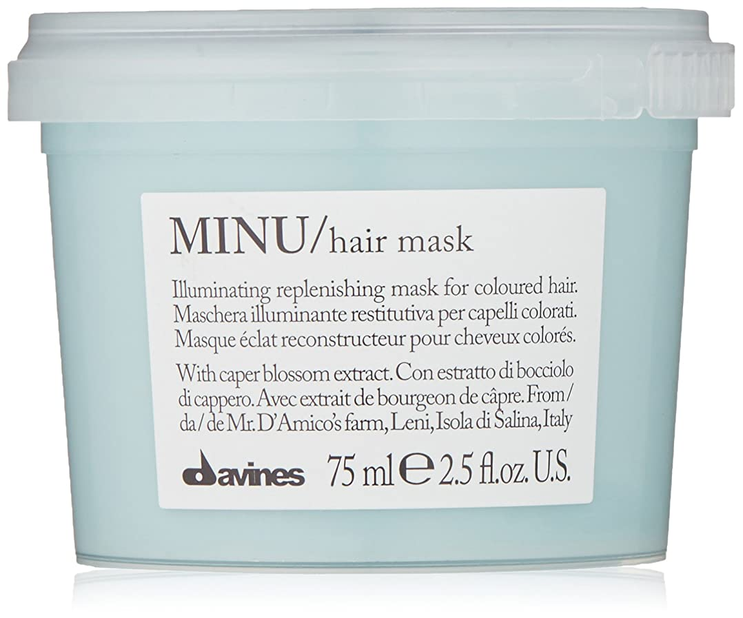 報奨金小道不安定なdavines-hair Mask Minu Davinesフォーマットトラベル75 ML