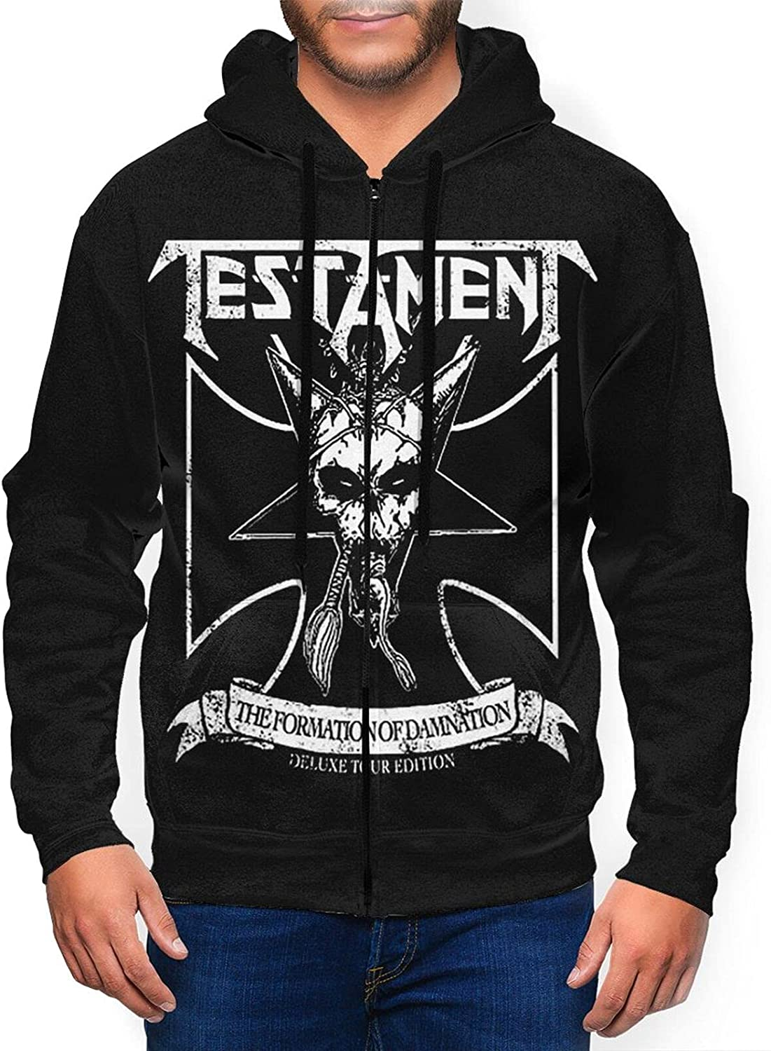 Testament Ranking integrated 1st place Men'S Hooded Zipper Same day shipping Shirt Casual Jacket Classic Coat