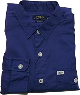 (ポロ ラルフローレン) 長袖 ポプリンシャツ ブルー系 Polo Ralph Lauren 622 [並行輸入品]