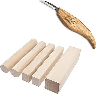Zite Tools tallar Juego de Niños–Cuchillo Ergonómico + tallar de Madera de Tilo