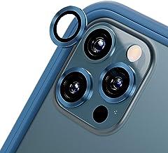 RhinoShield [Pack de 3] Protection pour objectifs Photo Compatible avec [iPhone 12 Pro Max]   Verre trempé 9H résistant aux Rayures avec Une Fine Bordure en Aluminium anodisé - Bleu