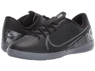 Nike Kids Jr Vapor 13 Academy IC Soccer (Toddler/Little Kid/Big Kid) (Black/Metallic Cool Grey/Cool Grey) Kids Shoes