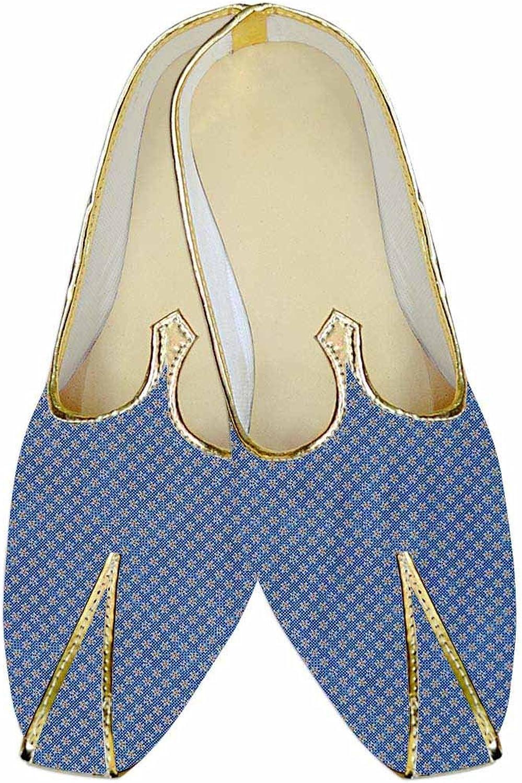 INMONARCH Herren Stahl Blau Hochzeit Schuhe Star Muster MJ015200  | Beliebte Empfehlung