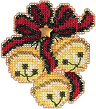 Jingle Bell Trio Beaded Counted Cross Stitch Ornament Kit Mill Hill 2019 Winter Holiday MH181933