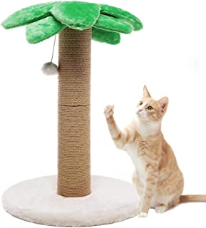 Luckitty Small Cat Scratching Posts Kitty Coconut Tree-Cat Scratch Post for Cats and Kittens - Plush and Sisal Scratch Pole Cat Scratcher