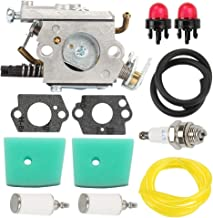 Butom C1Q-EL24 Carburetor + 537186301 Air Filter Tune Up Kit for Husqvarna 123C 123L 123LD 223L 223R 322C 322L 322R 323C 323L 325C 325CX 325L 325LX 326C 326L 326LX String Trimmer