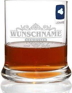 Leonardo Whisky Glas - Motiv: Geniesser limited - mit kostenloser Gravur des Namens  Geburtsjahr
