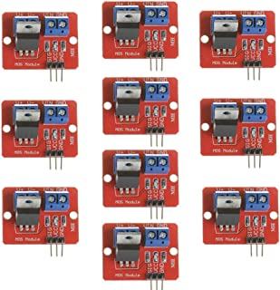 Anmbest 10PCS 3.3V 5V IRF520 MOSFET Driver Module PWM Regulated Output for Arduino MCU ARM Raspberry Pi