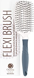 Detangling Flexi Brush � No Tangle Hair Brush for Kids, Men, and Women � Shine Brush Promotes Hair Growth and Eliminates Breakage � Easy Detangler Brush with Minerals by Osensia